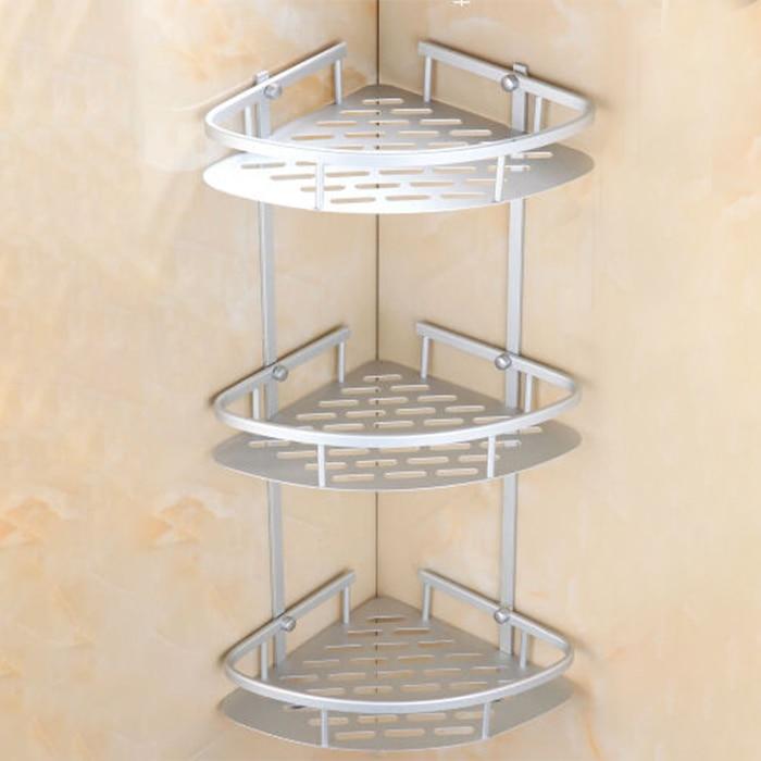 Matte Space Aluminium Shelves Triangular Shower Caddy Bathroom Wall ...