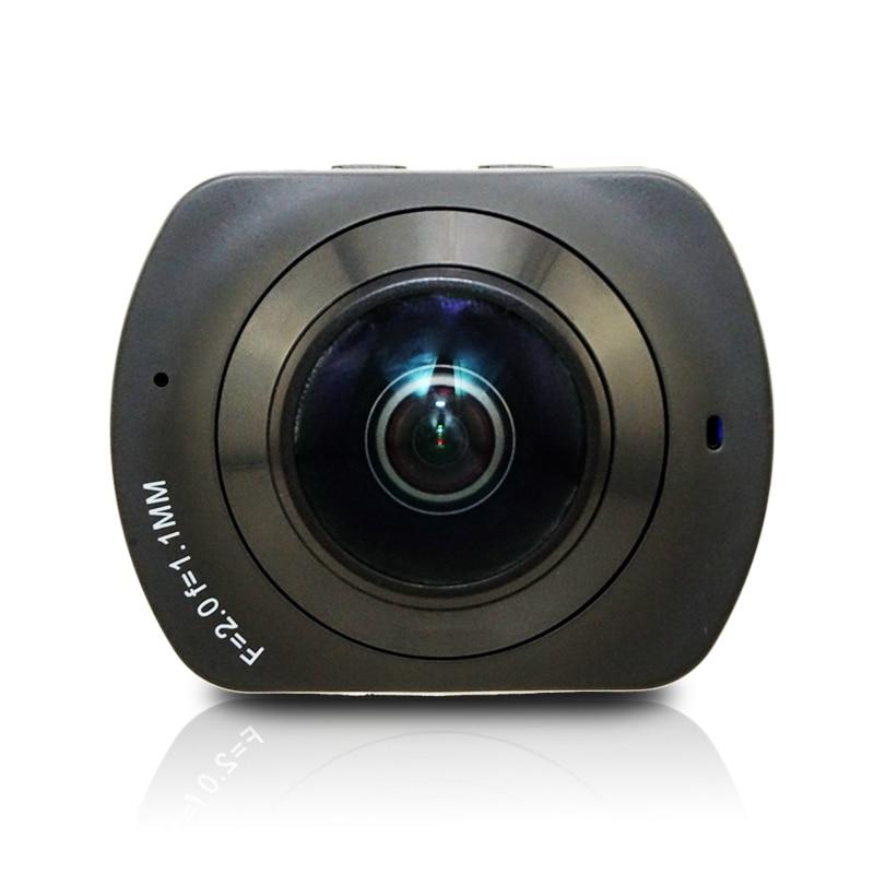 WIFI Panoramique 360 VR Caméra de Came de Degré 2 k HD Large Double Angle Lentille Oeil de Poisson VR Caméra Vidéo de Soutien TF pour Smartphone Android