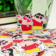 40pcs Crayon Shin-chan cute style photo album Scrapbook waterproof decoration stickers DIY Handmade Gift Scrapbooking sticker