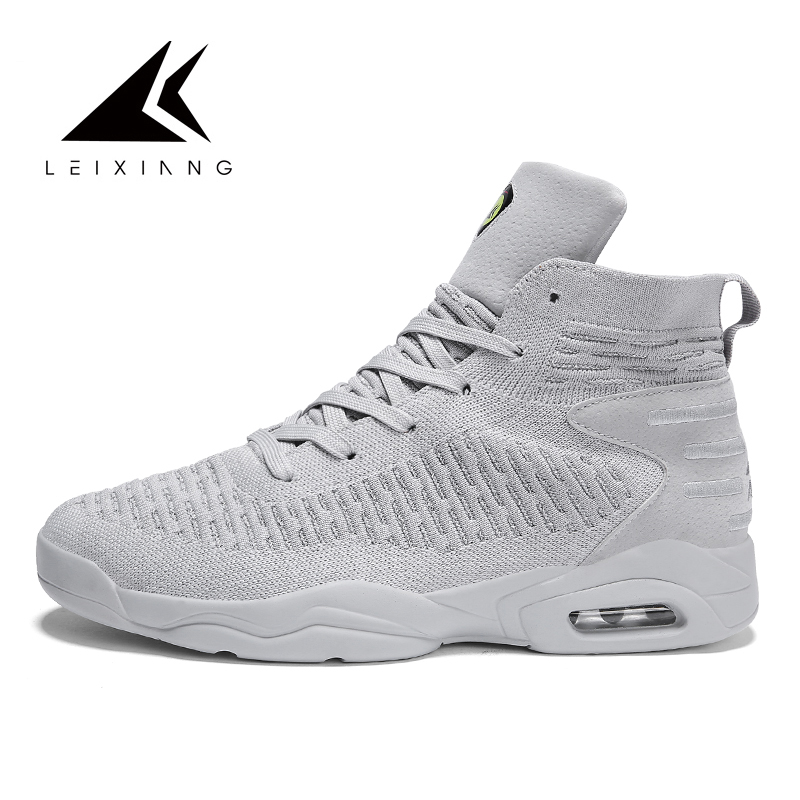 LEIXIANG Men's Basketball Sneakers High Top Breathable Mesh Male Sports Trainers Basket Homme 2019 Men Outdoor Winter Shoes
