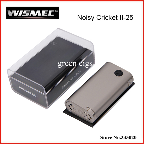Original Wismec Noisy Cricket II 25 Box Mod Powered by Dual 18650 Cells Alternative Operating Mode