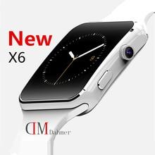 2016 neue Bluetooth Smart Uhr X6 Smartwatch Sport Uhr für Apple iPhone Android-Handy mit Kamera FM Unterstützung SIM-Karte P130