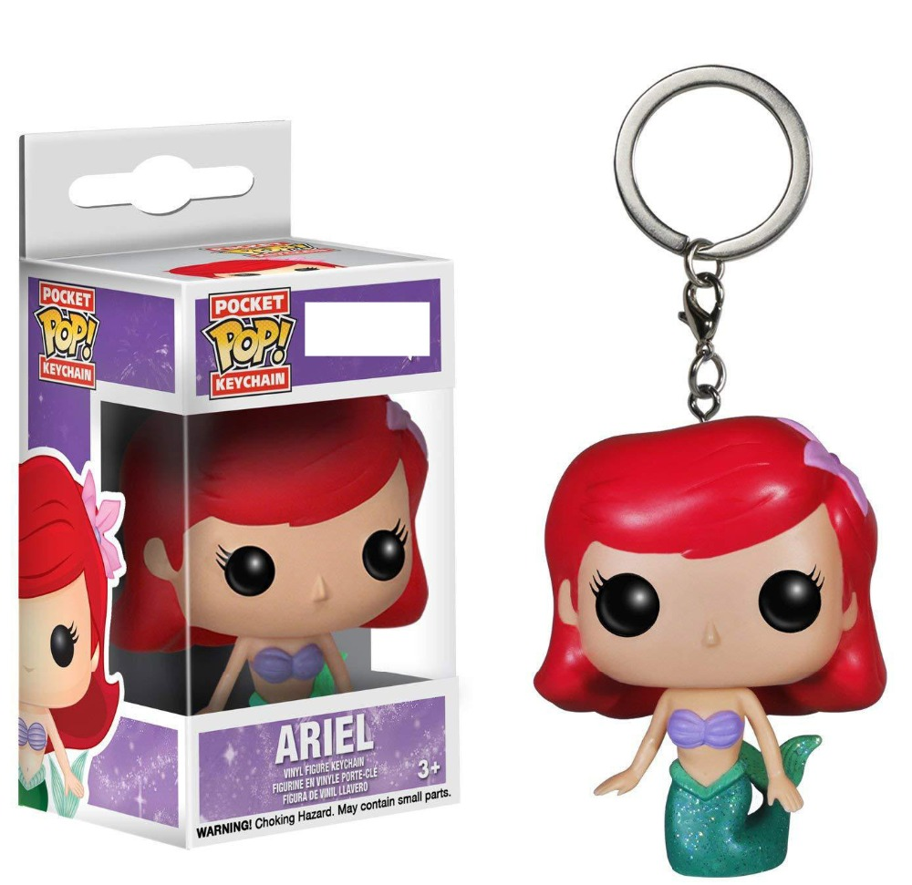 Funko Toy Keychain Action-Figure Mermaid-Ariel With Box Little Collection-Toys Pvc
