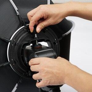 Image 3 - Triopo 55Cm 65Cm 90Cm Opvouwbare Octagon Softbox Bracket Mount Zachte Doos Handvat Voor Godox Yongnuo Speedlite Flash licht