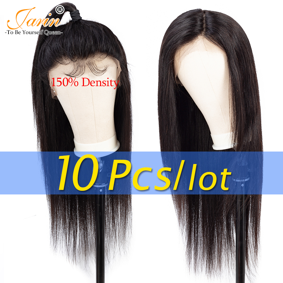 10 Pieces lot 13 4 Lace Front Human Hair Wigs Pre Plucked Brazilian Body Wave Lace