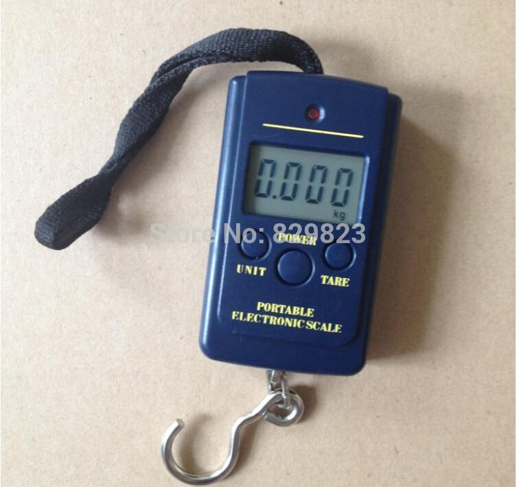 200pcs 40kg*10g houshold scale Portable Digital Electronic Scale Weight Hanging Handheld Backlight LCD Display Luggage pocket