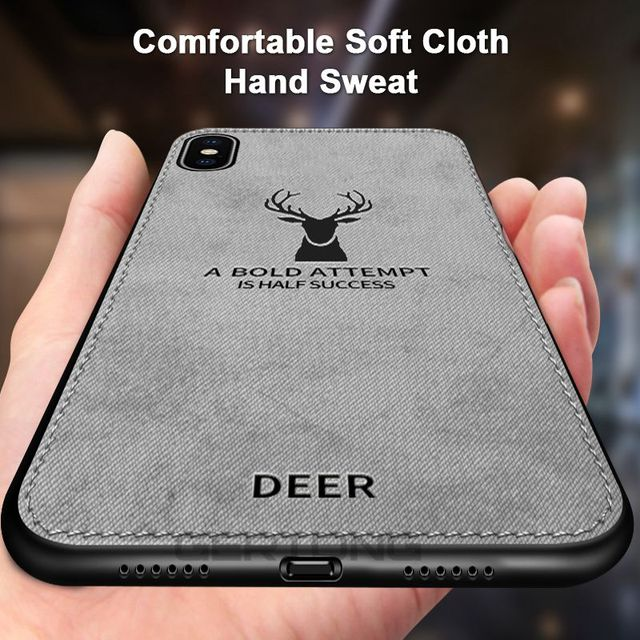 GerTong 3D Printing Animal Case For iPhone 6 6s Cloth Silicone Cover For iPhone X XR XS Max 7 8 Plus Soft TPU edge Phone Cases