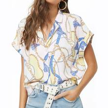 Sexy Print Batwing Sleeve Women Blouse Short Turn-Down Collar Ladies Shirts 2019 Summer Fashion Tops Casual Beach Party Clothes