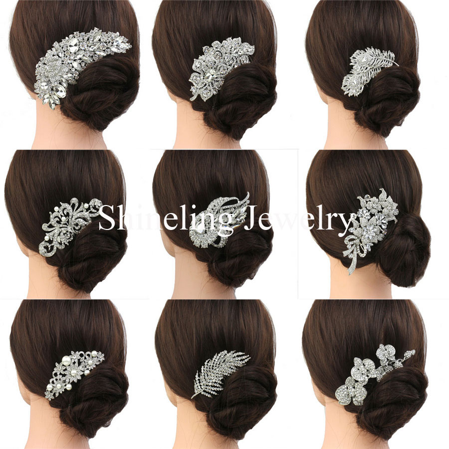 us $7.99 20% off|slbridal gorgeous art deco vintage wedding hair comb bridal hair comb pearls wedding hair accessories headpieces women jewelry-in