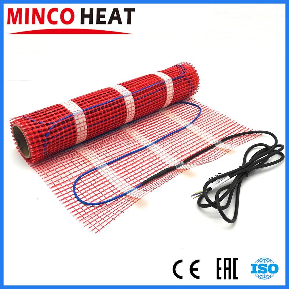 MINCO HEAT Underfloor Heating System Free Shipping To Russia, Under Floor Heating Mat 0.5 Meter Mat Under Tile Heating 150W/sqm