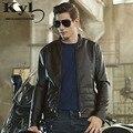 2016 Новый Марка Мотоцикла Кожаные Куртки Мужчины Jaqueta Couro Masculina Стенд Воротник мужская Кожаная Куртка 610