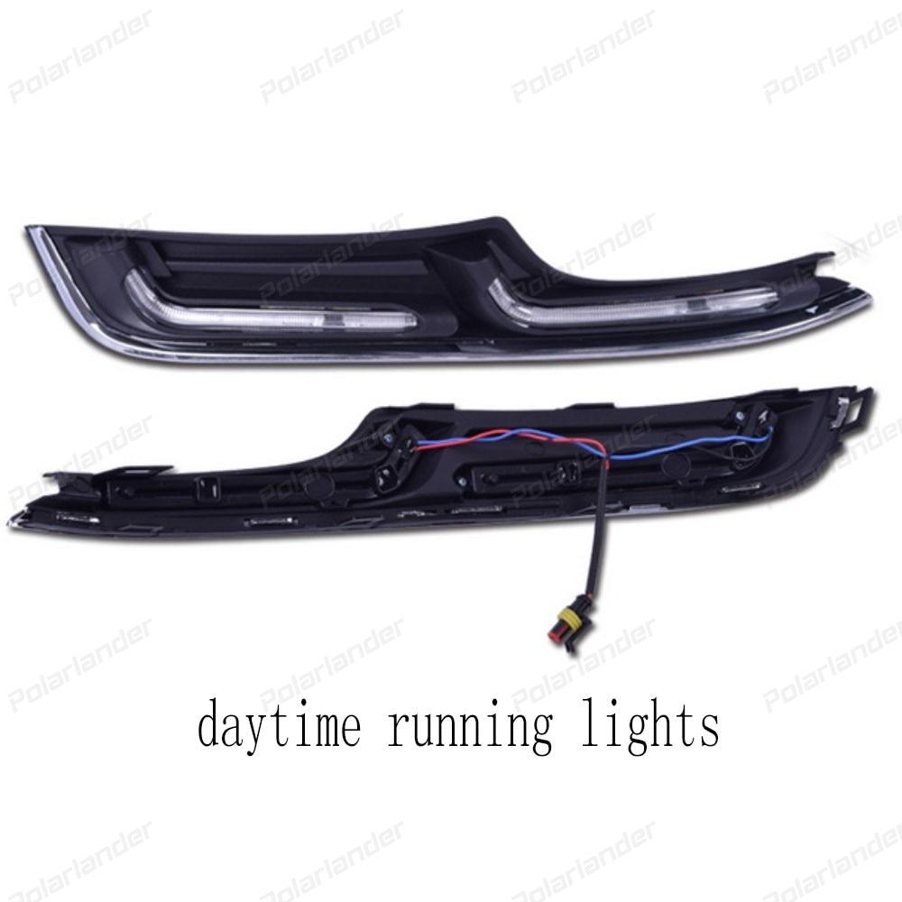 2pcs/lot LED Daytime Day White Fog Running Light auto Lamp DRL for V/olkswagen G/olf 7 2014-2015 auto accessory