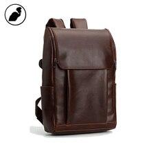 ETONWEAG New 2016 men brands  Italian leather brown vintage travel bags casual school bag zipper big capacity fashion backpacks