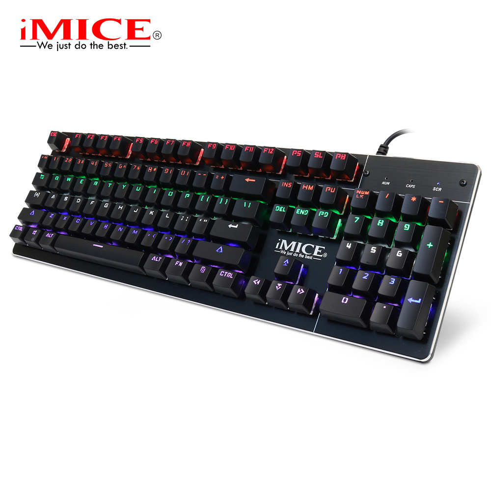 buy imice mechanical keyboard backlight wired gaming keyboards blue switch 104. Black Bedroom Furniture Sets. Home Design Ideas