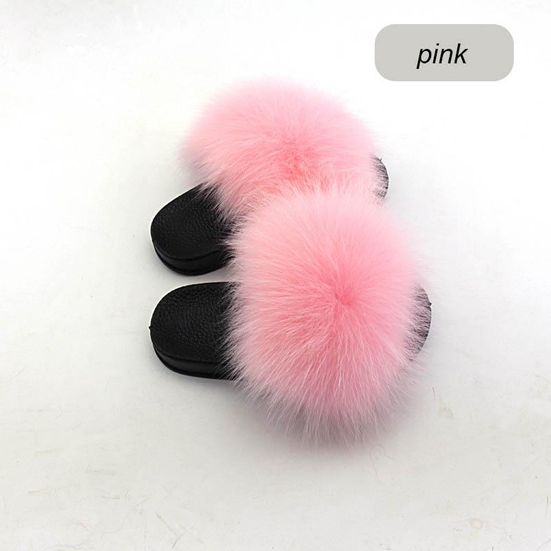 children slippers fox fur (14)