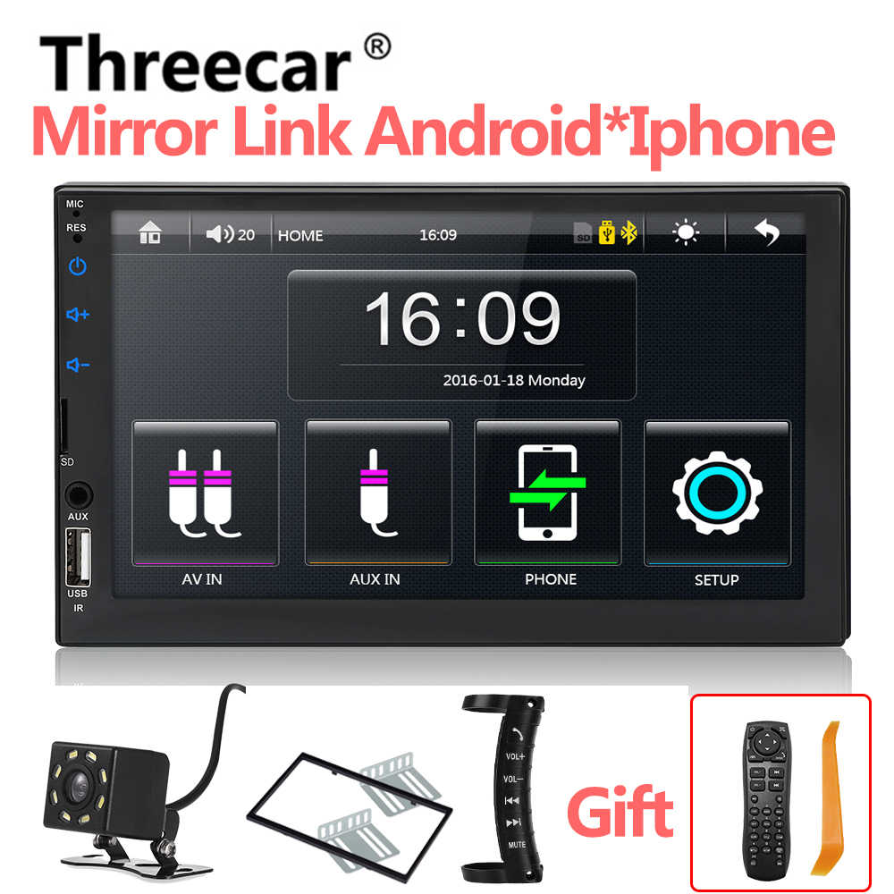 "Prive Fabriek 7049D Autoradio Hd 7 ""Touch Screen Stereo 2 Din Bluetooth Fm Sd Usb Aux Ingang Spiegel link Android Mp5 Speler"