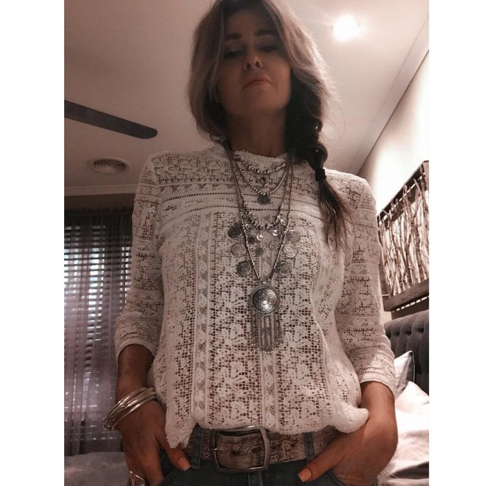 TRHRT 2018 Women Bib statement Necklace Fashion Jewelry Bohemian Antique Silver Coin Necklace Vintage Trendy Necklace