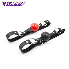 Sexy Products Sex Leather Strap Sex Bondage Gear Open Mouth Silicone Ball Not pl