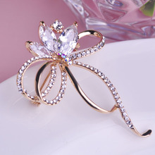 Korean Style Crystal Brooches Rhinestone Clothes Corsage Jewelry Cardigan Sweater Collar Pin Hat Accessories Hijab pins broches