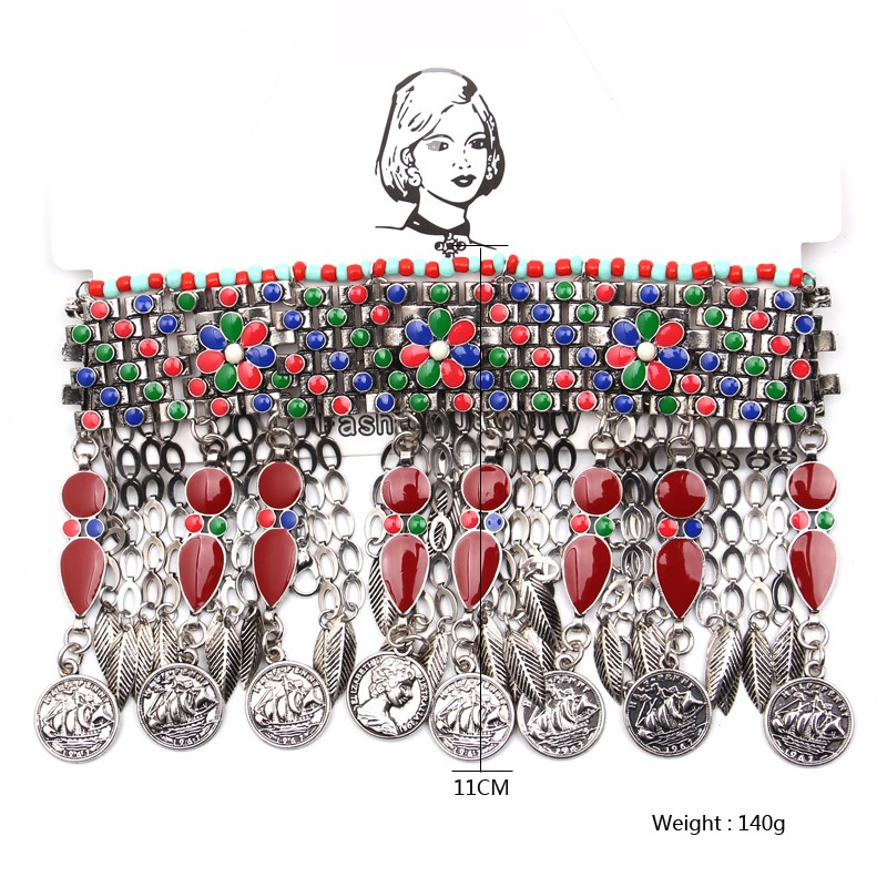 Ztech 18 Women Necklaces & Pendants Vintage Crystal Maxi Choker Statement Collier Femme Boho Big Fashion Jewellery Wholesale 16