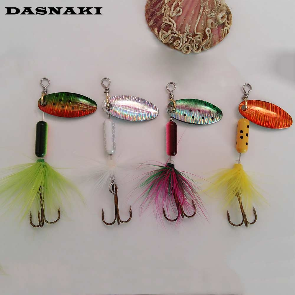 4pcs Metal Fishing Lure Spoon Mepps Spinner bait Spoon Lures With Mustad Treble Hooks Peche Jig Anzuelos isca Pesca mepps lures 1pcs 6cm 2 5g fishing lure hook mepps spinner spoon lures rotating metal sequins bait hooks peche jig anzuelos de pesca wq8065