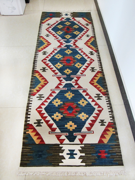 KILIM Greig Muke Karim pure wool hand-woven carpets bedside blanket corridor carpets exotic national wind gc149-31KILIM Greig Muke Karim pure wool hand-woven carpets bedside blanket corridor carpets exotic national wind gc149-31