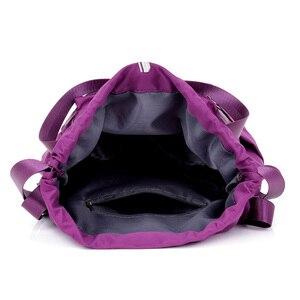 Image 5 - Women Nylon Backpacks Fashion Ladies Casual Drawstring Rucksack Multifunction Shoulder Bag Teenager Girls Travel Schoolbag