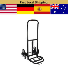 Portable Stair Climber Hand Truck Stair Climbing Hand Truck w/ Backup 440LBS Barrow Folding Hand Truck Bracket Roll Cart Trolley(China)