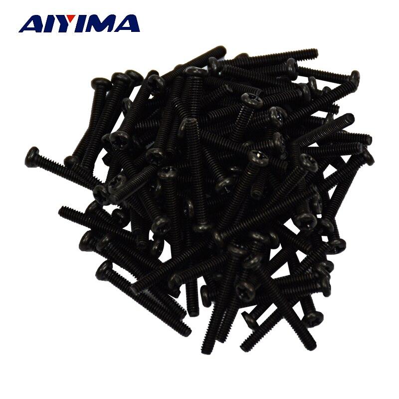 Aiyima 100 машина винт M2x16 M2 с цилиндрической головкой для ноутбука Сталь черный