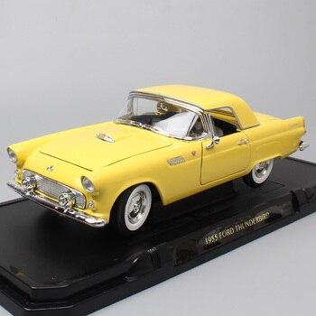 La 1 Lloguer Firma Modelo Ford Fundición Escala Carretera De Colección 18 Coches Thunderbird Grandes Juguete Réplicas Para 1955 0Nv8nmw