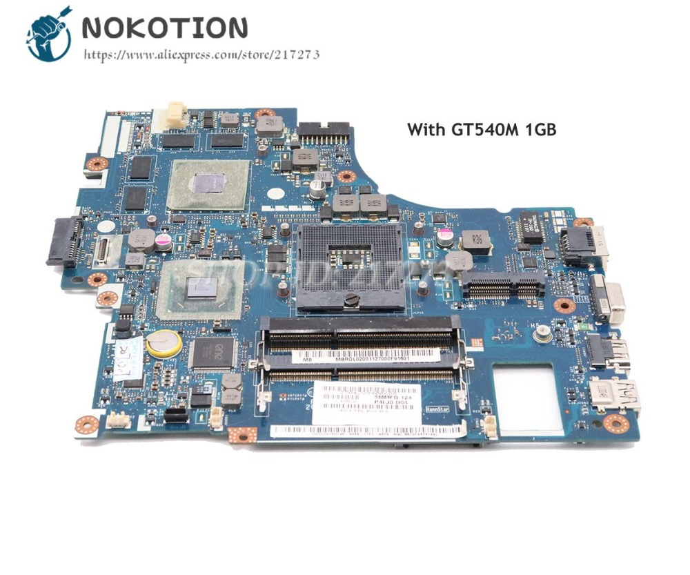 NOKOTION For <font><b>Acer</b></font> <font><b>aspire</b></font> <font><b>4830</b></font> 4830T <font><b>4830TG</b></font> Laptop Motherboard MBRGM02001 MBRGL02001 P4LJ0 LA-7231P HM65 DDR3 GT540M 1GB image