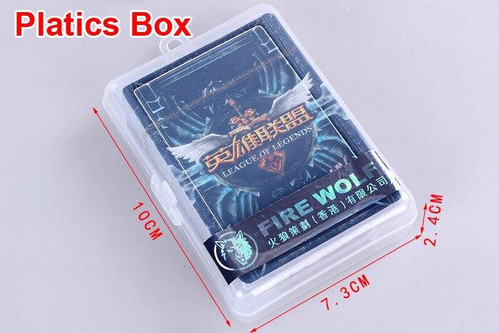 Lol Jugando A Las Cartas Con Caja De Plastico De La Liga De Legends