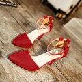 Женщины 2017 Новый Высокие Каблуки Сексуальные тонкие Каблуки Женская Обувь zapatos mujer Металл Hasp sapato feminino chaussure femme talon