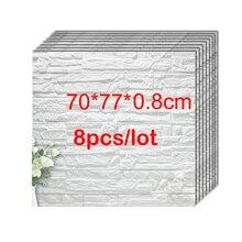 70*77*0,8 см 3D кирпичная ПЭ Пена наклейки на стену панели комнаты наклейка каменное украшение рельефная гостиная детская безопасная спальня домашний декор