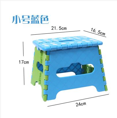 Plastic Folding Thicken Step Portable Children Stools (green Blue) 1pc Folding Stool Outdoor Fishing Desk 24*17*21cm C607
