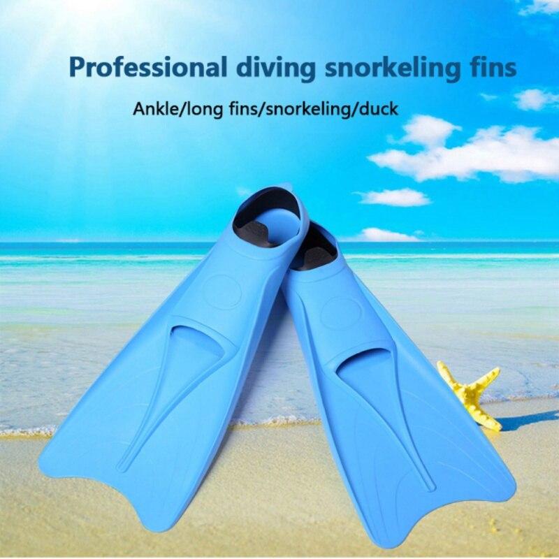 2019 palmes d'entraînement professionnel souple Submersible chaussures palmes de natation silicone plongée en apnée palmes de plongée Submersible pied