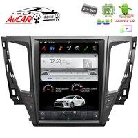 Тесла Стиль для Mitsubishi Pajero Sport 2016 2017 автомобильный gps навигации Bluetooth Радио WI FI 4G вертикальной стерео dvd плеер AUX