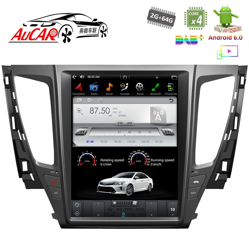 Tesla Style for Mitsubishi Pajero Sport 2016 2017 car gps navigation Bluetooth Radio WIFI 4G Vertical Stereo car dvd player AUX lsqstar 7 car dvd player w gps radio aux swc 6cdc tv canbus dual zone for mitsubishi pajero montero