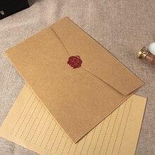 12 pz/set di Grandi Dimensioni Cartolina Lettera di Cancelleria Carta Kraft Busta per la Cerimonia Nuziale Lettera Regalo Invito Scrapbooking Busta Grande