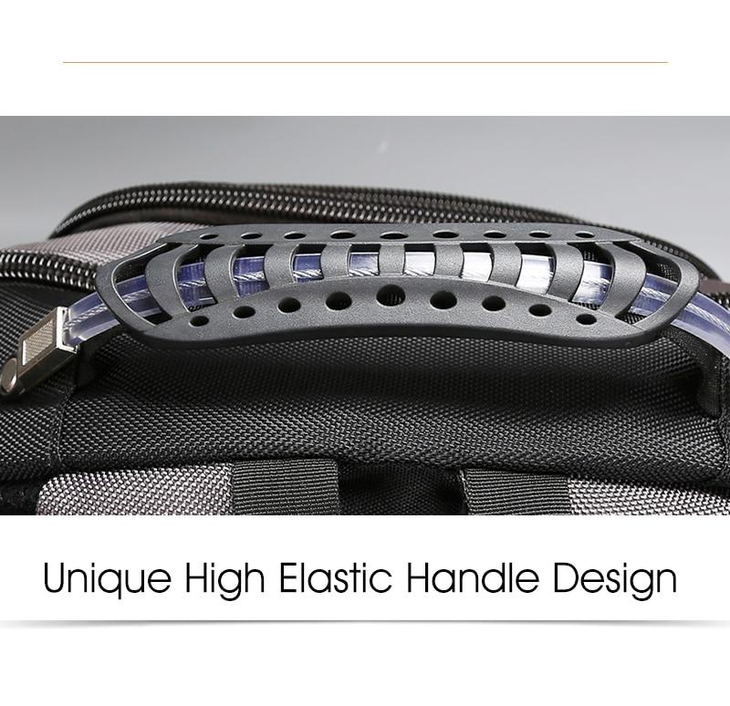 Aoking Original Brand New Patent Design Massage Air Cushion1 Men's Laptop Backpack Men Large Capacity Nylon Comfort Backpacks 6