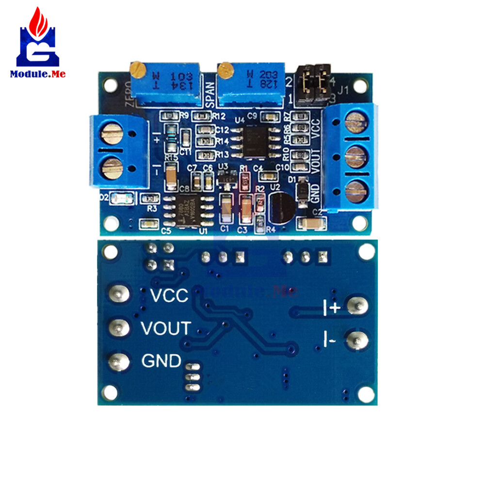 diymore Current To Voltage Module 0 -20mA/4 -20mA to 0- 3.3V/0 -5V/0 -10V Voltage Transmitter Signal Converter Module