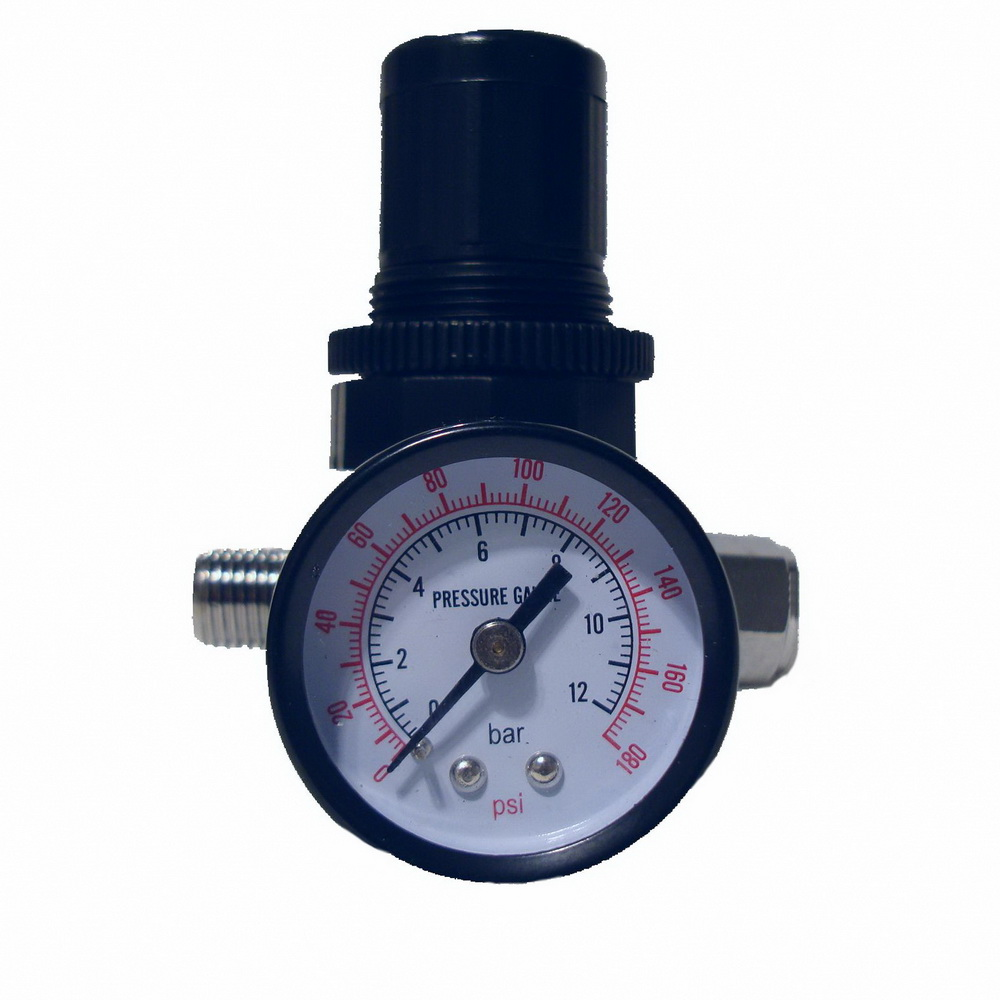 SPRAY GUN REGULATOR AIR PRESSURE REGULATOR AUTO PAINT AIR REGULATOR SPRAY GUN ADJUSTABLE REGULATING GAUGE AIR TOOL sat1215s air tools pneumatic gun paint spray gun auto chrome high pressure spray gun