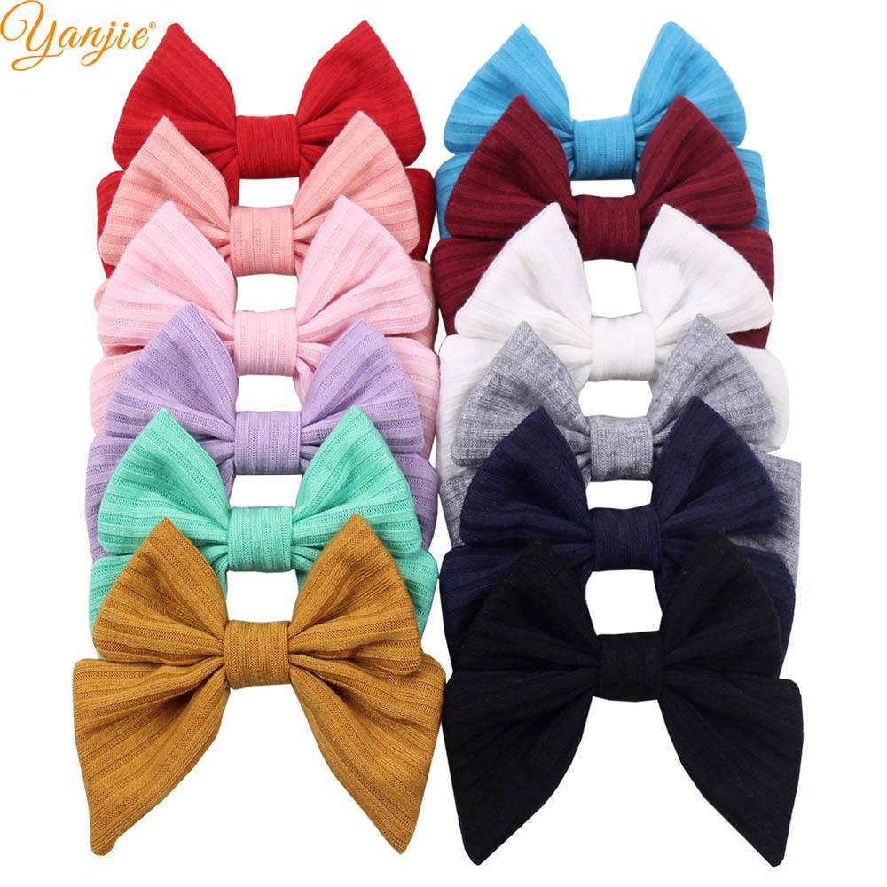 12pcs/lot 2019 New 3'' Girls Sailor Hair Bows Spring Cute Barrette Headband Hair Clips For Kids Headwear DIY Hair Accessories