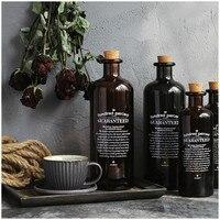 Retro Black White Brown Chic Glass Storage Jar Bottle Nordic Scandinavian Desk Storage Bottle Organizer Flower Container Decor