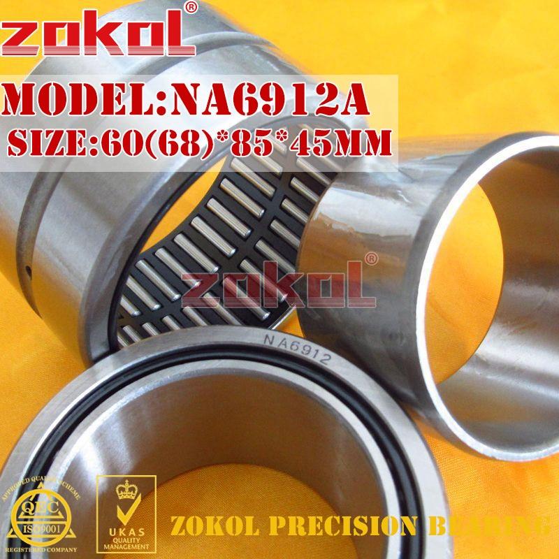 ZOKOL bearing NA6912 A NA6912A Entity ferrule needle roller bearing 60(68)*85*45mm