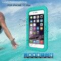 Ip-68 luxo caso à prova d' água para iphone 7/7 mais água/sujeira/à prova de choque saco do telefone para o iphone 7 7 plus caso