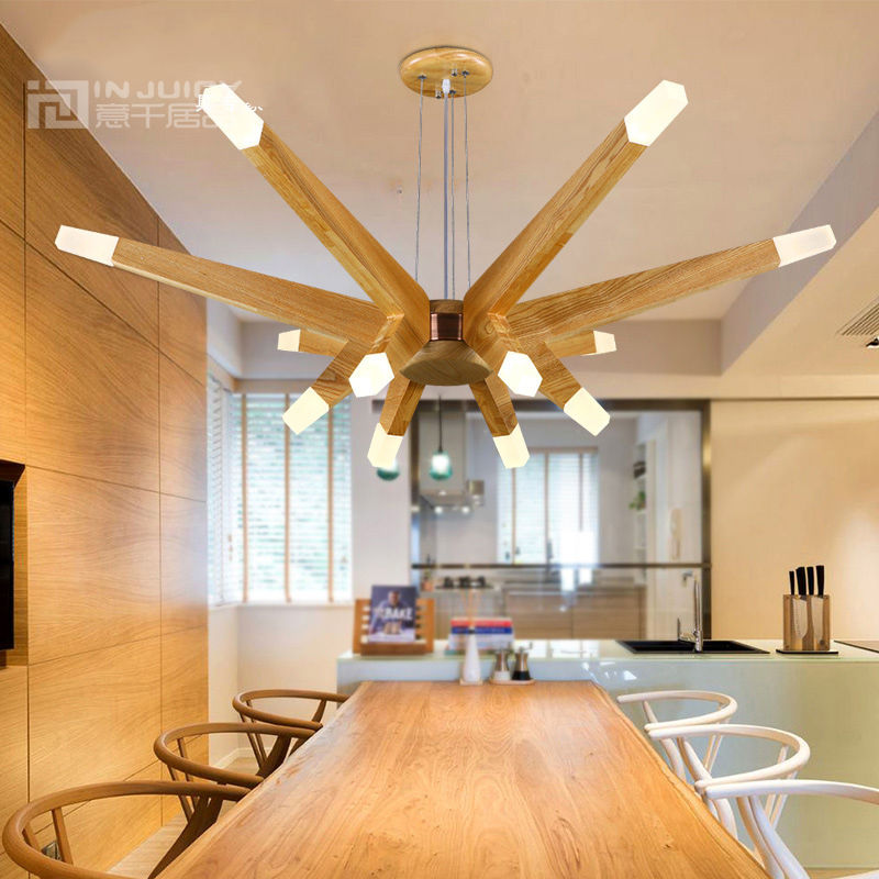 Nordic Modern LED Wood Ceiling Light Lamp Fixtures