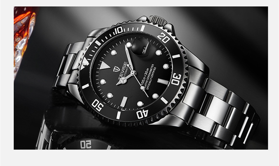 HTB1SLHewFooBKNjSZPhq6A2CXXaH Tevise Luxury Waterproof Automatic Men Mechanical Watch Auto Date Full Steel Business Top Brand Man Watches Water Resistant T801
