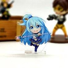 Love Thank You Kono Subarashii Sekai ni Shukufuku wo suba Aqua konosuba small acrylic stand figure model plate holder cake anime