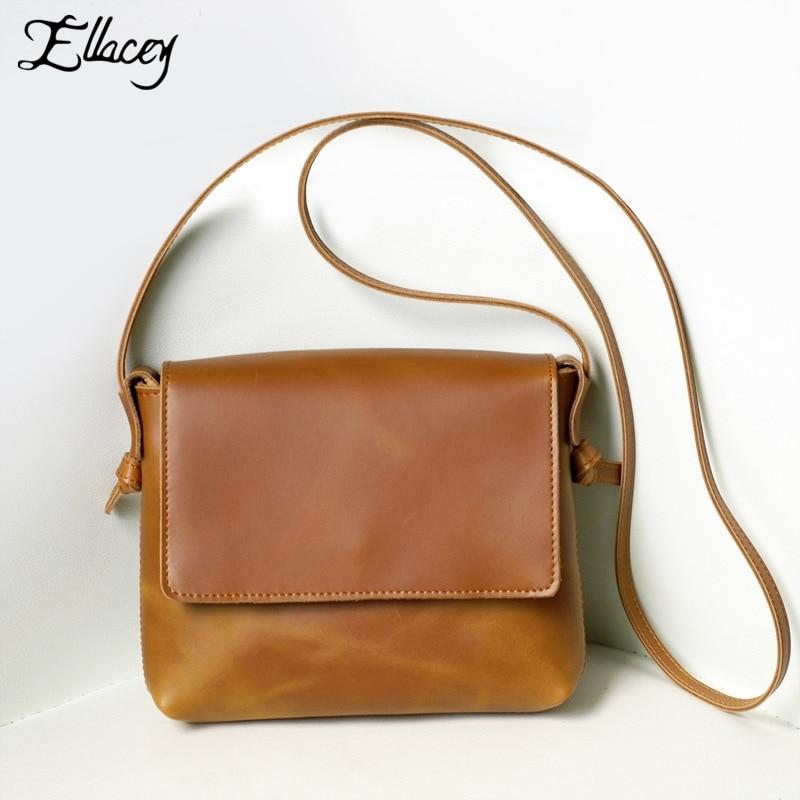 ФОТО 2016 Vintage Casual Genuine Leather Ladies Handbag Shoulder Crossbody Flap Bags Small Messenger Bags Female Mini Hand Bag